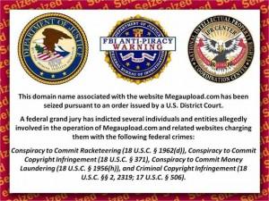 Texto que se lee por el cierre de MegaUpload